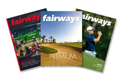 couverture des 3 derniers numéros de fairways-mag