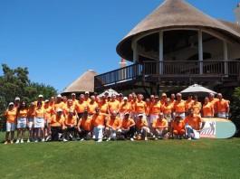 La photo de groupe du Pro-Am de l'Afrique du Sud