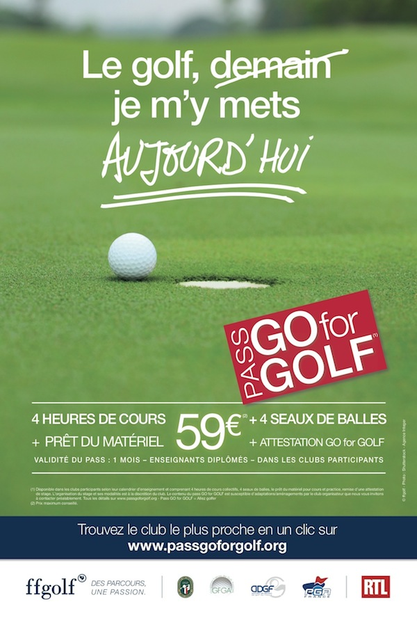 Affiche Pass GO for GOLF
