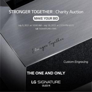 LG Signatures Vente aux enchères caritative